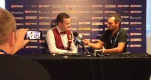 Shaun Murphy. Rueda de prensa tras su victoria sobre Joe Perry.