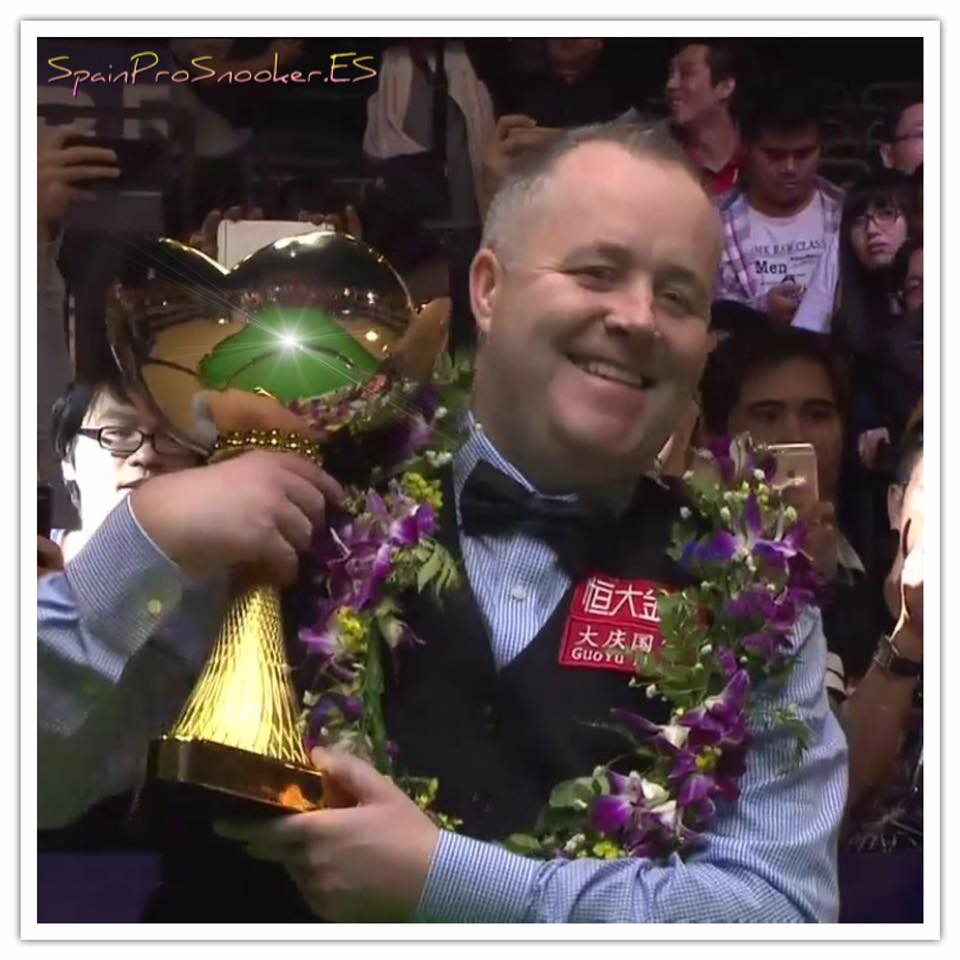 John Higgins Campeón China Championship 2016