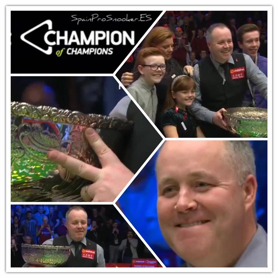 John Higgins Campeón del Champion of Champions 2016