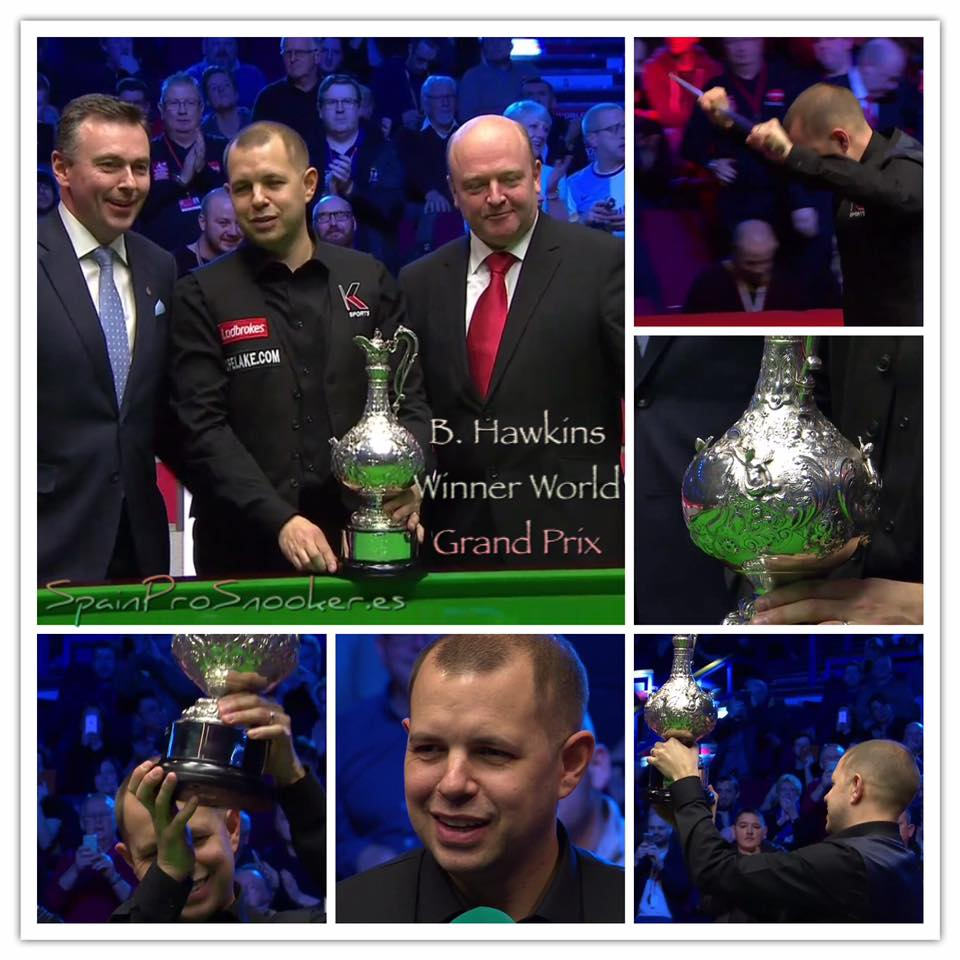Barry Hawkins Campeón World Grand Prix 2017
