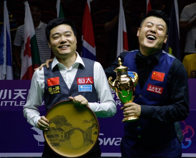 China A Ding Junhui - Лян Wenbo
