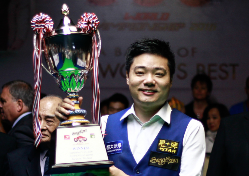 Ding Junhui Campeón 6 Red World Championship 2016