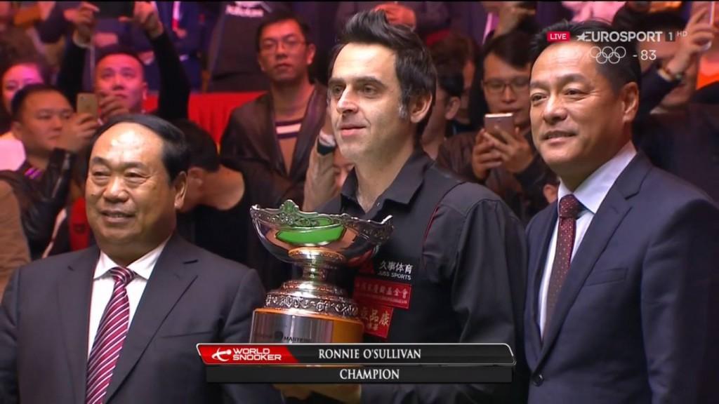 Ronnie O'Sullivan Campeón Shanghai Masters 2017