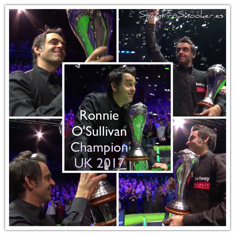 Ronnie O'Sullivan Campeón UK Championship 2017