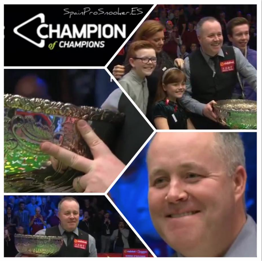 John Higgins Campeón Champion of Champions 2016